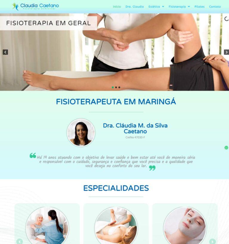 Fisioterapeuta Claudia Caetano