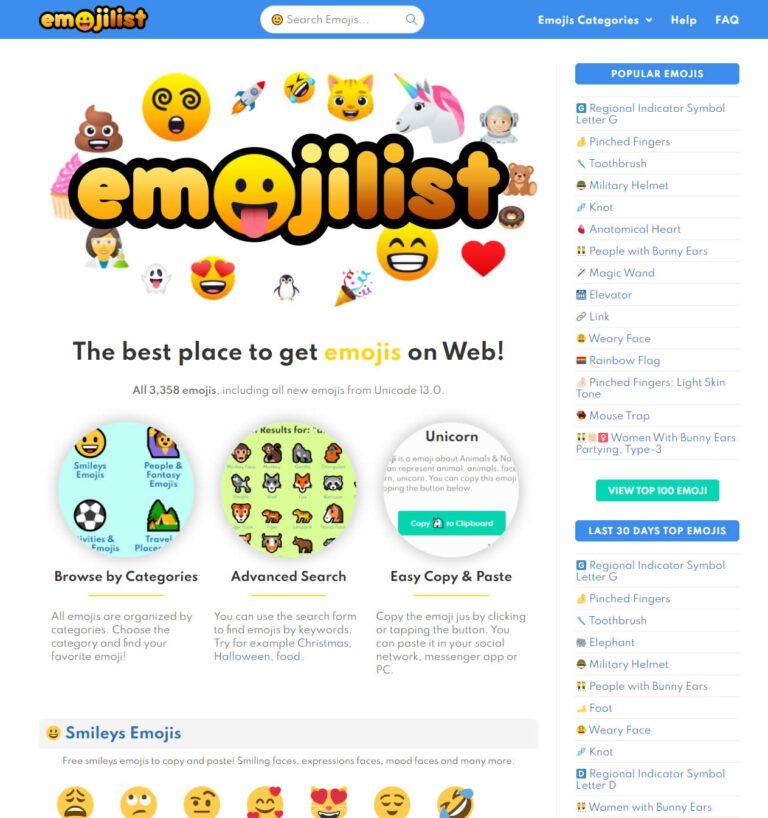 Emojilist